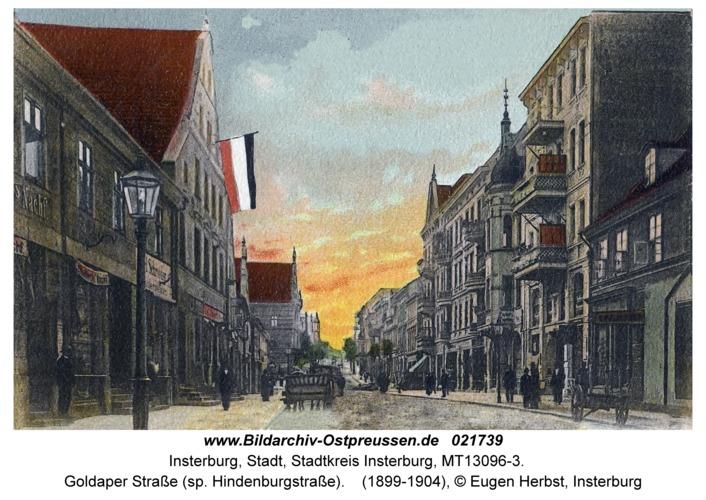 Insterburg, Goldaper Straße (sp. Hindenburgstraße)