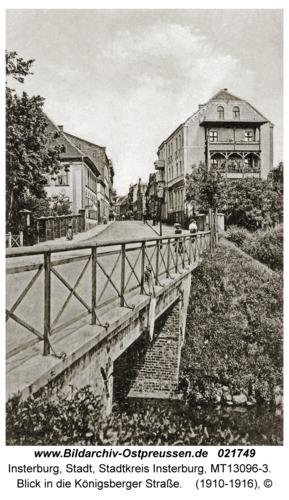 Insterburg, Blick in die Königsberger Straße