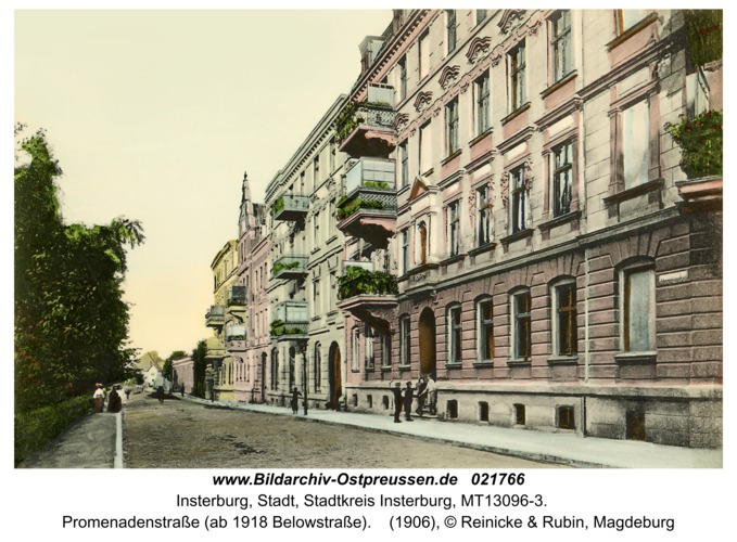 Insterburg, Promenadenstraße (ab 1918 Belowstraße)