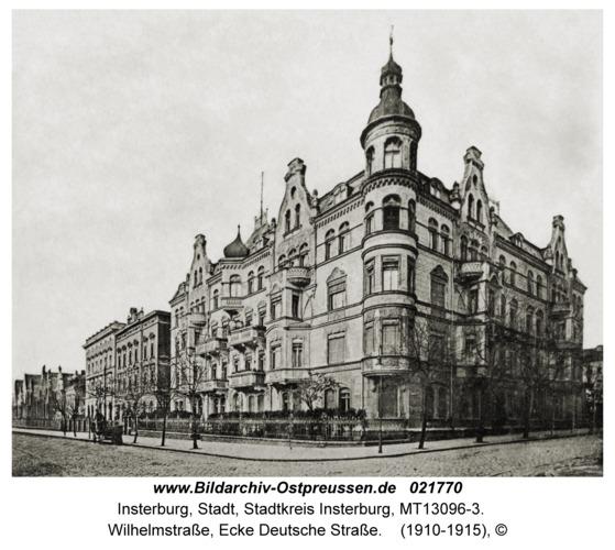 Insterburg, Wilhelmstraße, Ecke Deutsche Straße