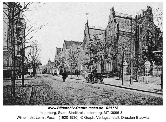 Insterburg, Wilhelmstraße mit Post