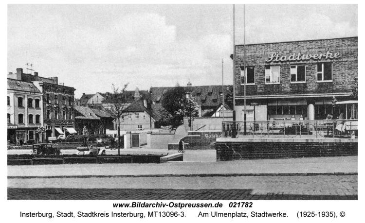 Insterburg, Am Ulmenplatz, Stadtwerke