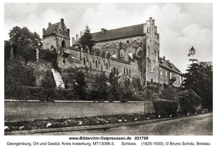 Georgenburg, Ort und Gestüt, Schloss