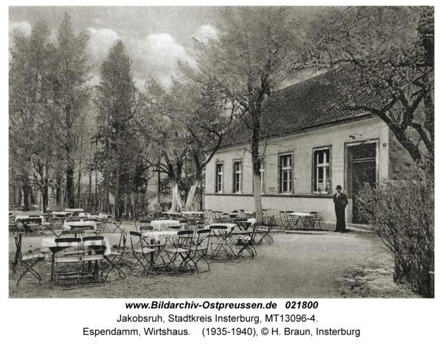 Jakobsruh Stadtkr. Insterburg, Espendamm, Wirtshaus