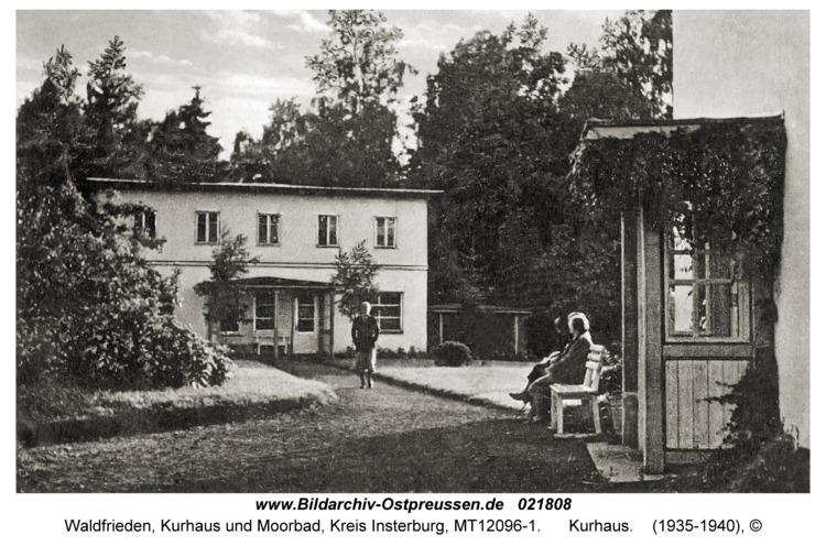 Waldfrieden Kr. Insterburg, Kurhaus und Moorbad, Kurhaus