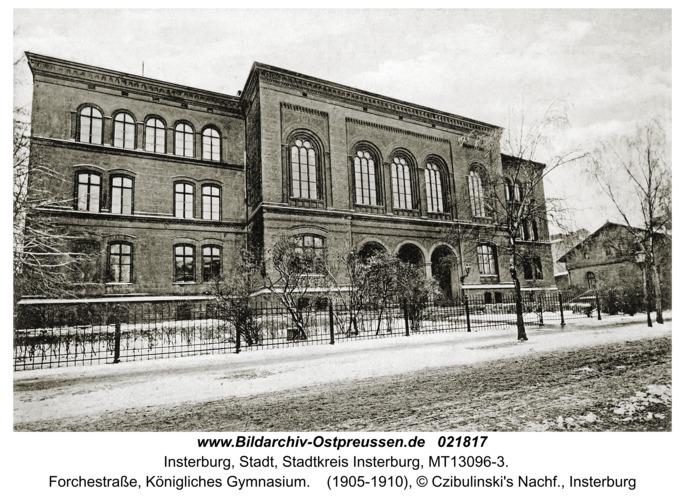 Insterburg, Forchestraße, Königliches Gymnasium
