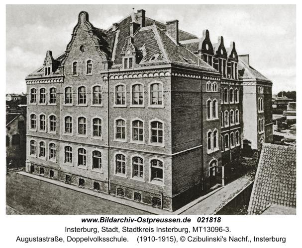 Insterburg, Augustastraße, Doppelvolksschule