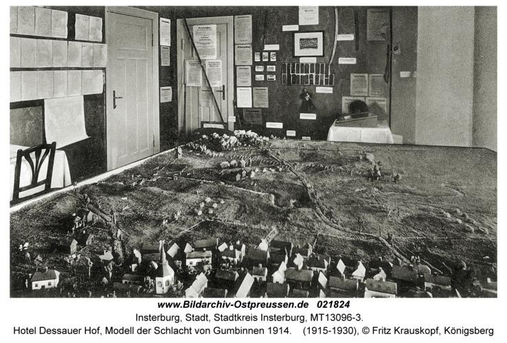 Insterburg, Hotel Dessauer Hof, Modell der Schlacht von Gumbinnen 1914