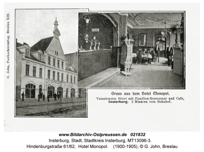 Insterburg, Hindenburgstraße 61/62, Hotel Monopol