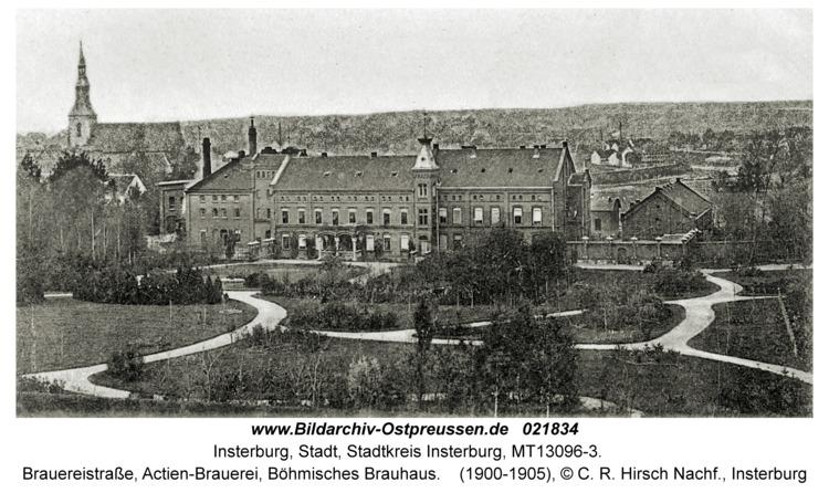 Insterburg, Brauereistraße, Actien-Brauerei, Böhmisches Brauhaus