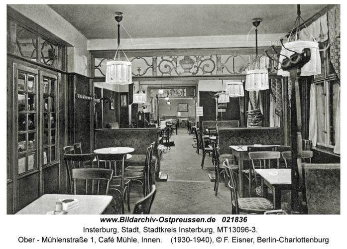 Insterburg, Ober - Mühlenstraße 1, Café Mühle, Innen