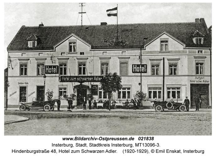 Insterburg, Hindenburgstraße 48, Hotel zum Schwarzen Adler