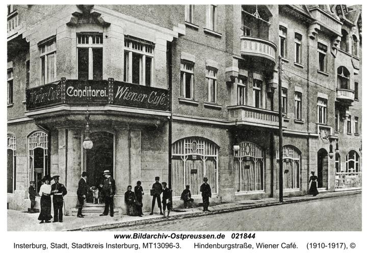 Insterburg, Hindenburgstraße, Wiener Café