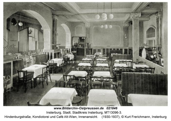 Insterburg, Hindenburgstraße, Kondiotorei und Café Alt-Wien, Innenansicht