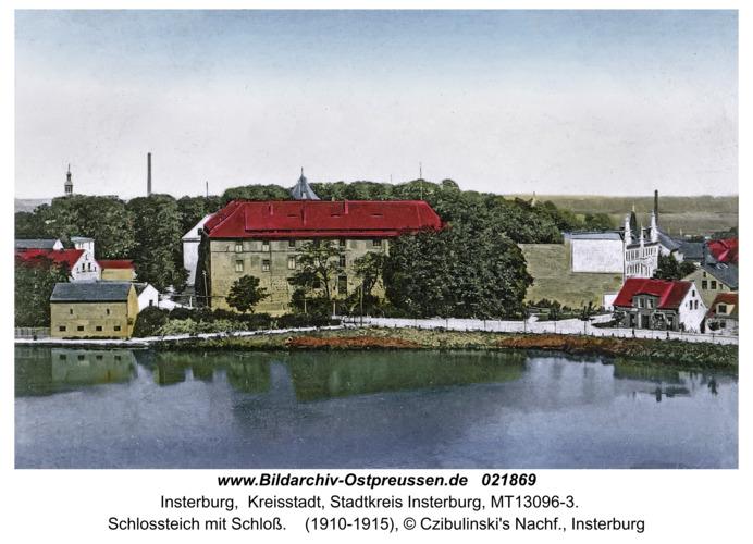 Insterburg, Schloßteich mit Schloß
