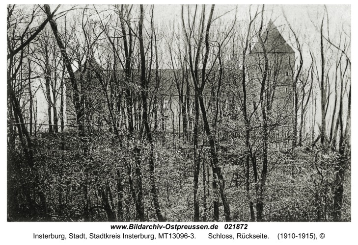 Insterburg, Schloss, Rückseite