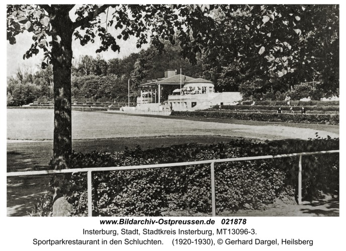 Insterburg, Sportparkrestaurant in den Schluchten