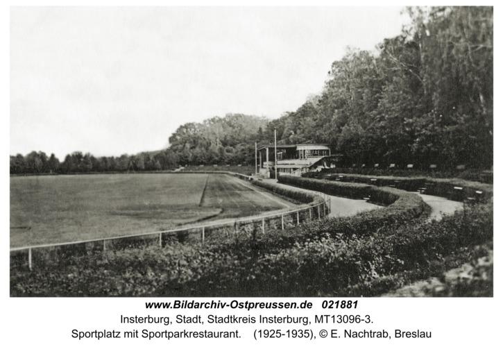 Insterburg, Sportplatz mit Sportparkrestaurant