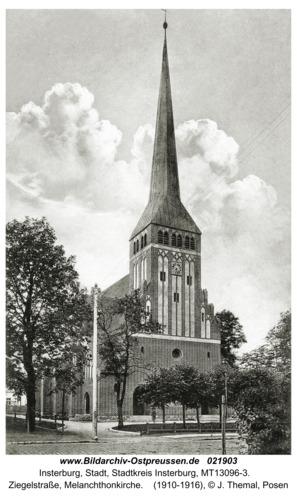 Insterburg, Ziegelstraße, Melanchthonkirche