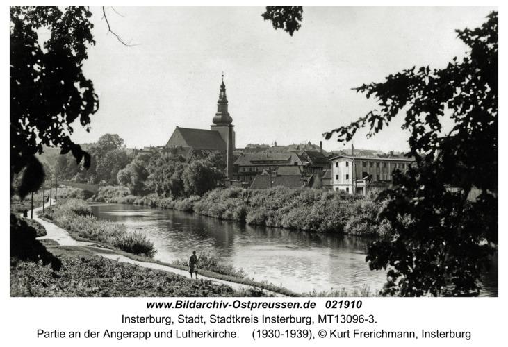 Insterburg, Partie an der Angerapp und Lutherkirche