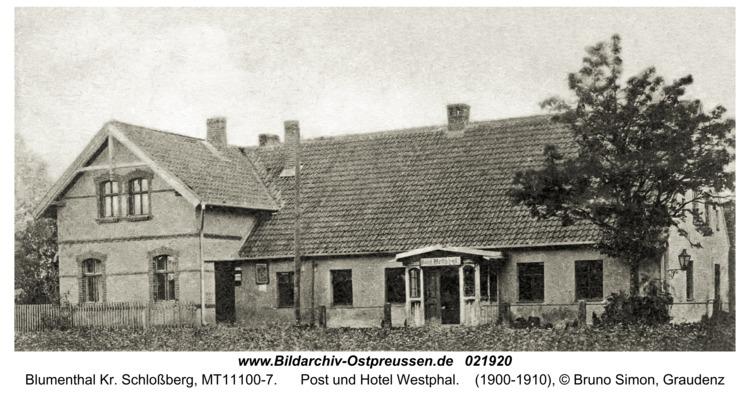 Blumenthal Kr. Schloßberg, Post und Hotel Westphal