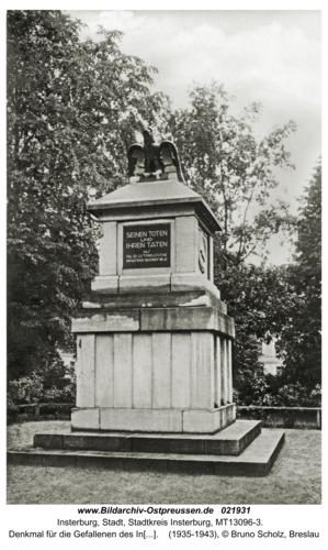 Insterburg, Denkmal für die Gefallenen des Infanterie Regiments 45