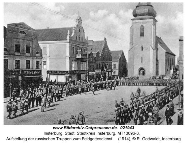 Insterburg, Aufstellung der russischen Truppen zum Feldgottesdienst