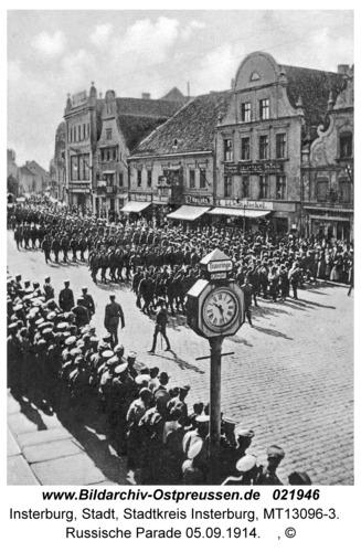 Insterburg, Russische Parade 05.09.1914
