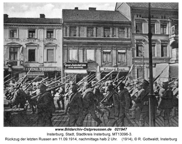 Insterburg, Rückzug der letzten Russen am 11.09.1914, nachmittags halb 2 Uhr