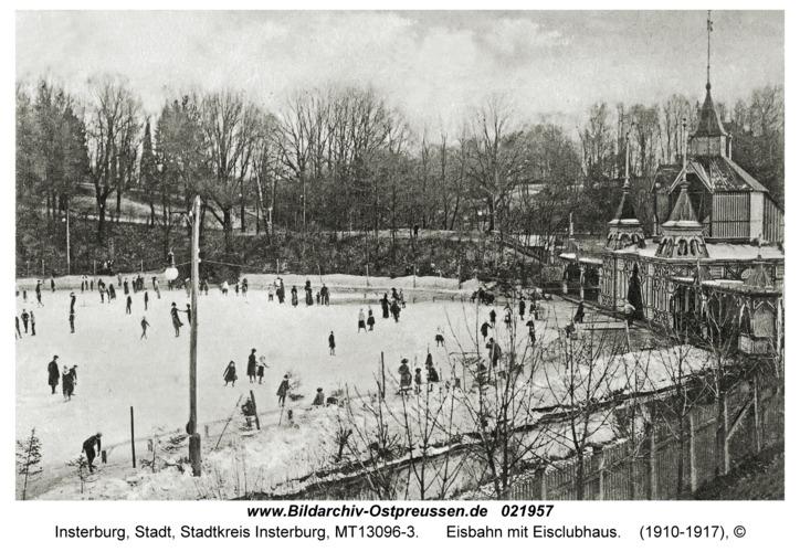 Insterburg, Eisbahn mit Eisclubhaus