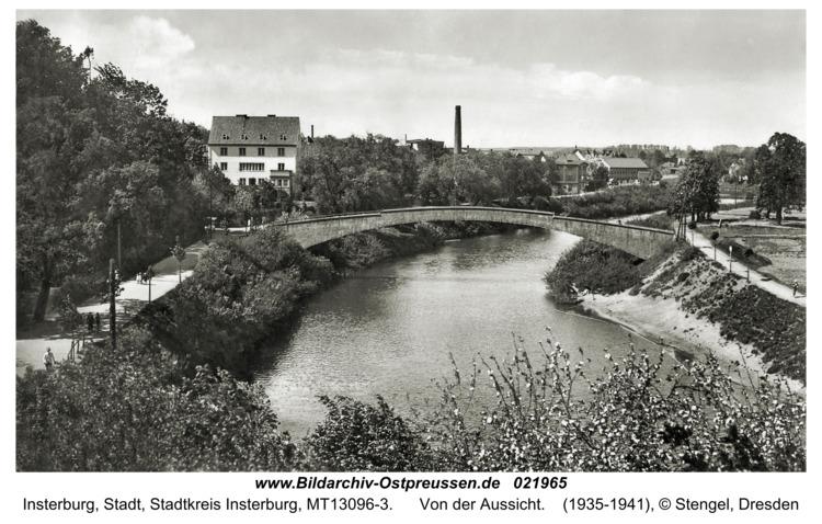 Insterburg, Von der Aussicht