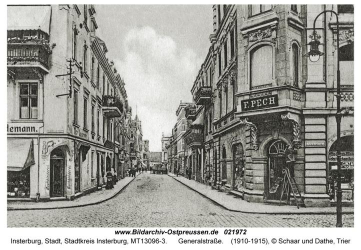 Insterburg, Generalstraße