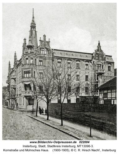 Insterburg, Kornstraße und Mohrsches Haus