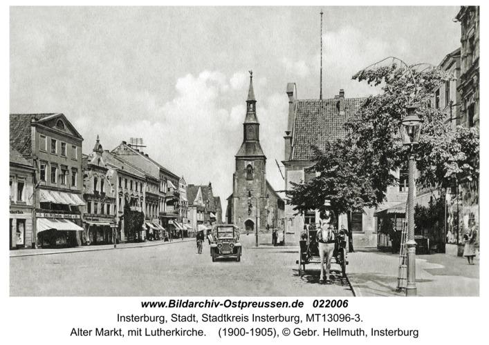 Insterburg, Alter Markt, mit Lutherkirche