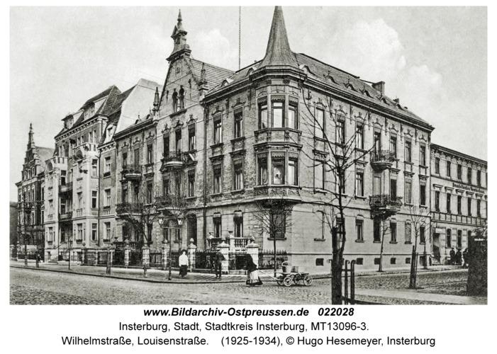 Insterburg, Wilhelmstraße, Louisenstraße
