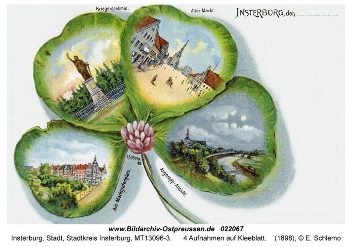 Insterburg, 4 Aufnahmen auf Kleeblatt