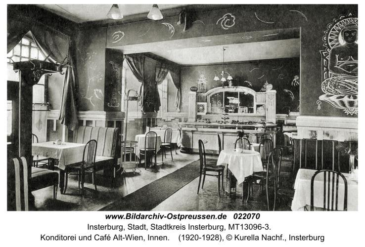 Insterburg, Konditorei und Café Alt-Wien, Innen