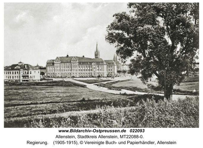 Allenstein, Regierung