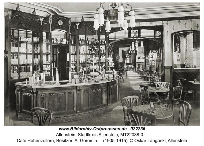 Allenstein, Cafe Hohenzollern, Besitzer: A. Geromin