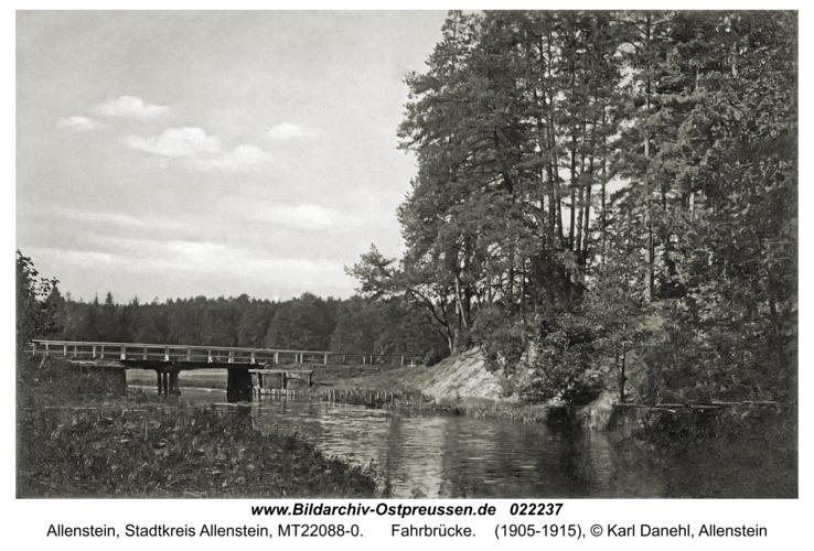 Allenstein, Fahrbrücke