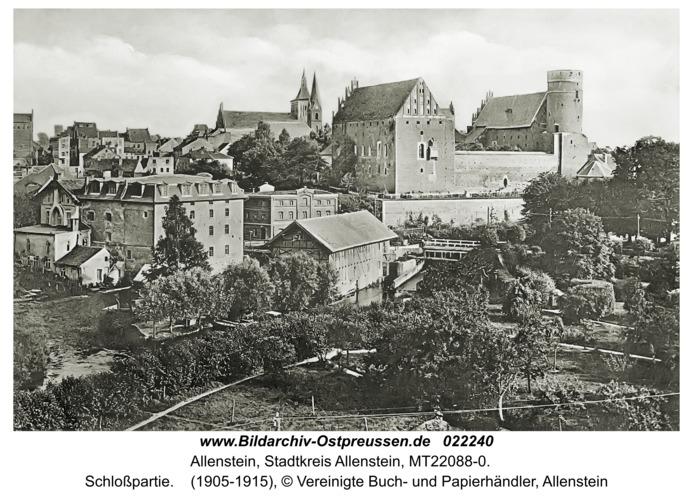 Allenstein, Schloßpartie
