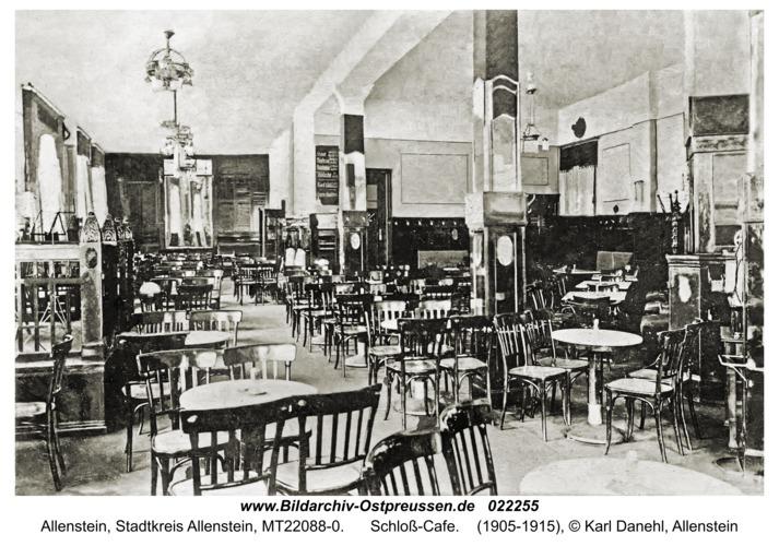 Allenstein, Schloß-Cafe