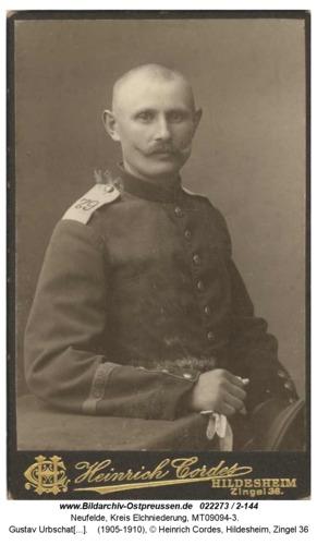 Neufelde, Gustav Urbschat als Soldat