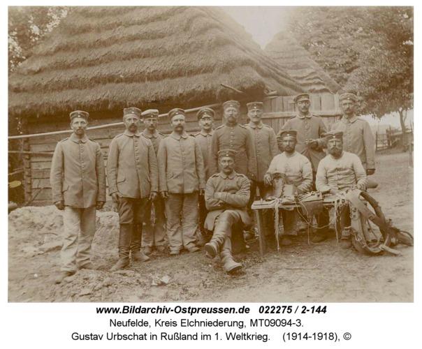Neufelde, Gustav Urbschat in Rußland im 1. Weltkrieg