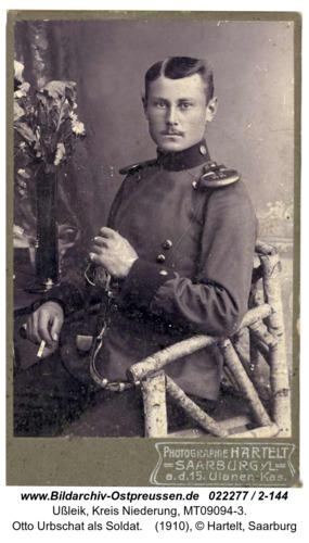 Neufelde, Otto Urbschat als Soldat