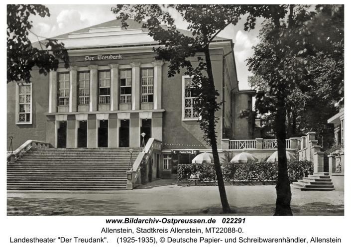 """Allenstein, Landestheater """"Der Treudank"""""""