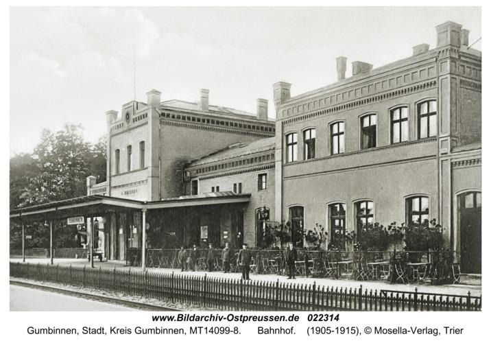 Gumbinnen, Bahnhof