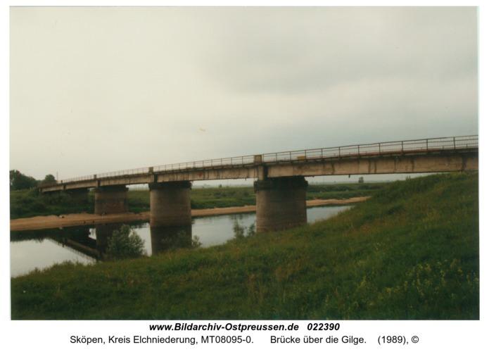 Sköpen, Brücke über die Gilge