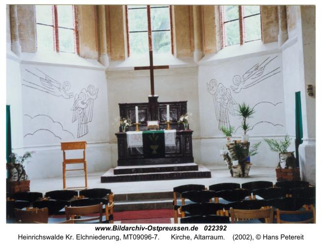 Heinrichswalde, Kirche, Altarraum