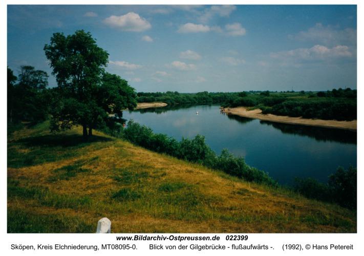Sköpen, Blick von der Gilgebrücke - flußaufwärts -
